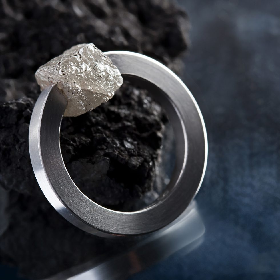 Rohdiamant Ring